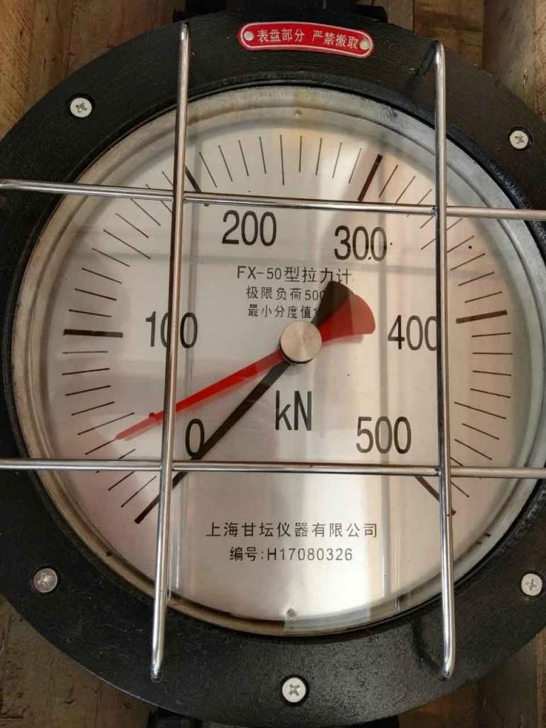500kn机械式拉力表_高强索具用50t指针测力仪表