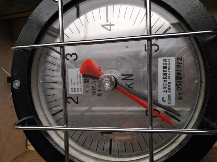 5000N指针测力仪表,油井用5K机械式拉力计(图)
